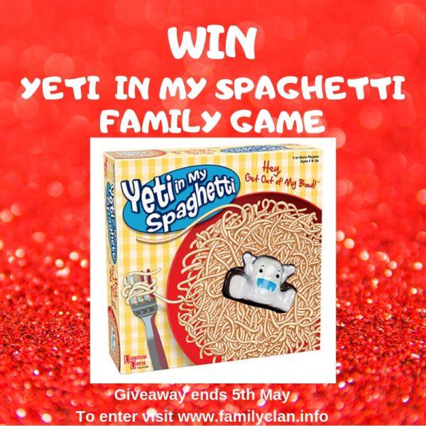 Yeti in my spaghetti giveaway Family Clan