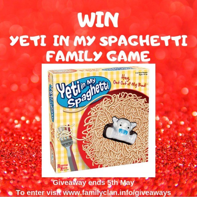 Win Yeti in my Spaghetti giveaway by Family Clan