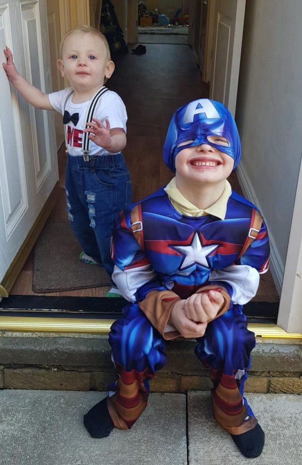 Logan on Cash 4 Kids Super Hero Day Family Clan Metro Radio