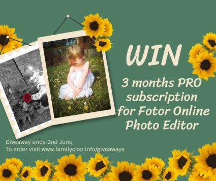Win Fotor 3 months PRO Subscription giveaway Family Clan
