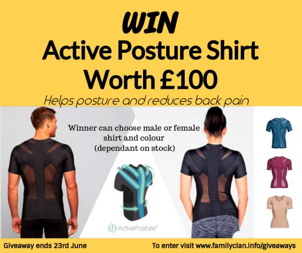 Win a Active Posture Shirt Facebook Giveaway Family Clan