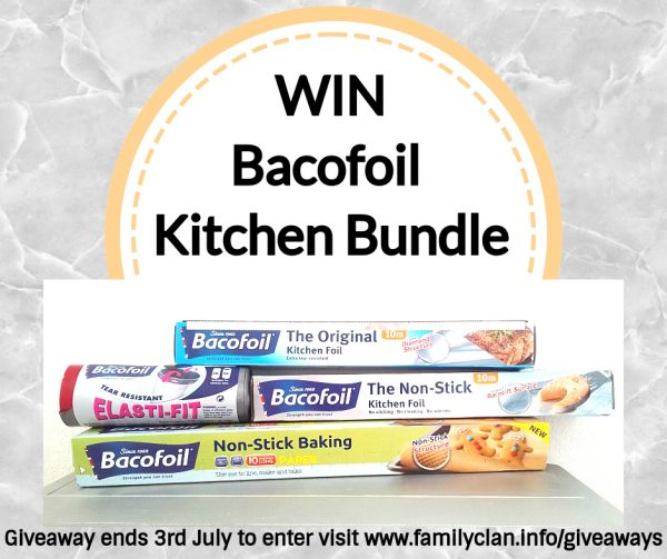 Win Bacofoil Kitchen Bundle poster for Facebook Family Clan