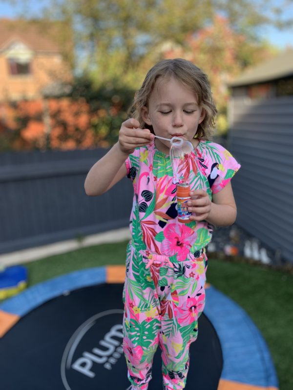 Sunday Snap of Olivia Blowing Bubbles