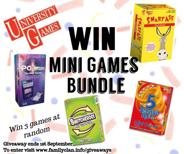 Win Facebook giveaway mini games bundle with University Games