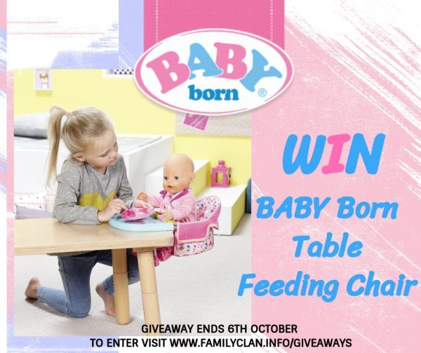 Win Giveaway Baby Born Table Feeding Chair Review Family Clan