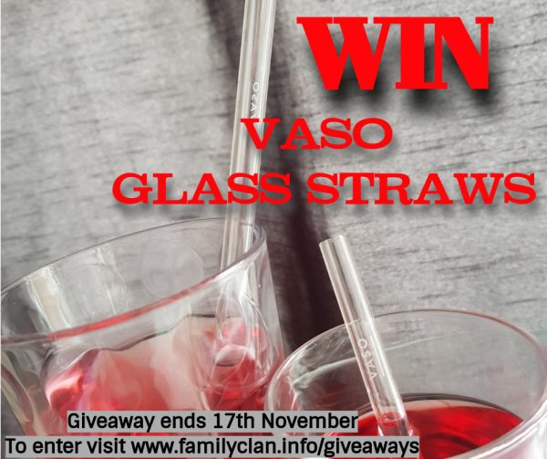 Win VASO Glass Straws Giveaway Poster Family Clan