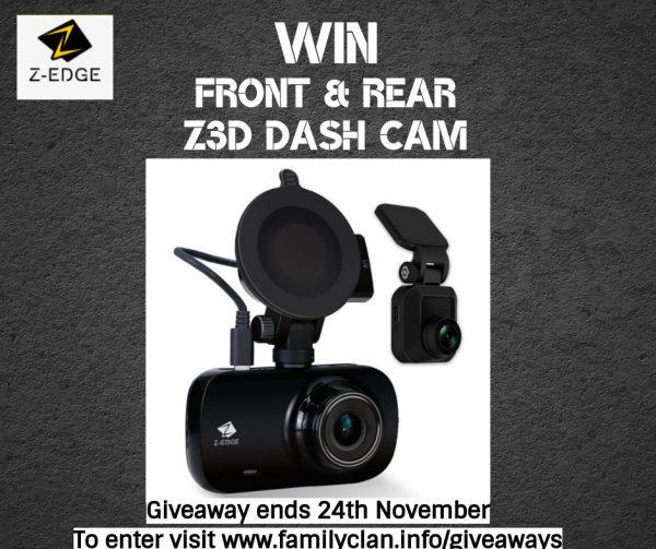 Win a Zero Edge Z-Edge Z3D Dual Lens Dash Mam GIVEAWAY Family Clan