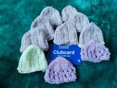 Jack & Jill Knitted Premature Preemie Baby Hat Beanie Family Clan