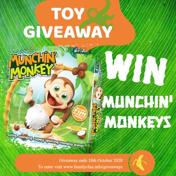 Munchin Monkeys Giveaway poster Family Clan