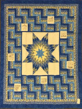 Fence Rail Star Throw Quilt-Family Farm Handcrafts