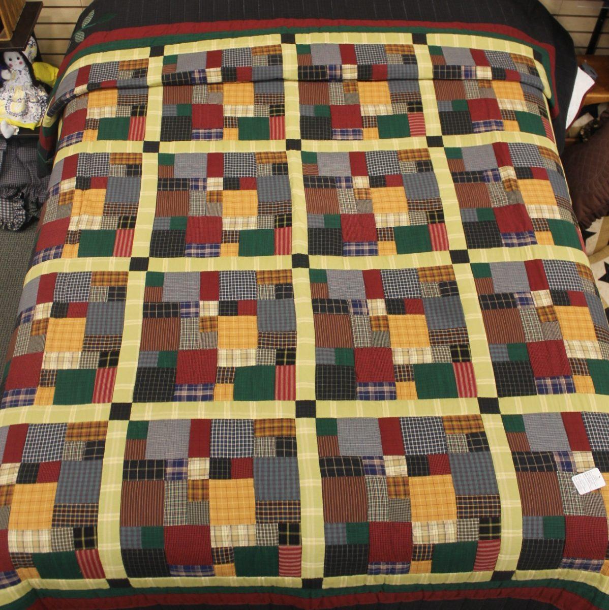 Homespun Quilt   Brick and Mortar Queen Quilt   Family Farm Quilts : homespun quilts - Adamdwight.com