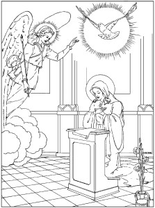 Annunciation Coloring Pages — Family in Feast and Feria