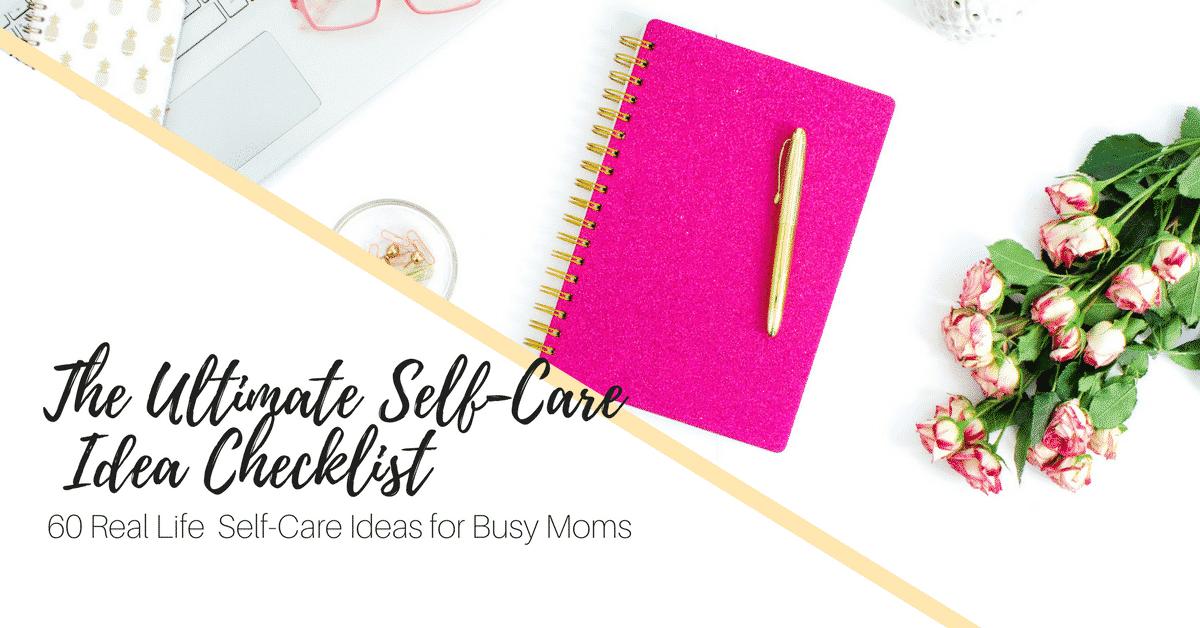 Self Care Ideas Checklist Ad