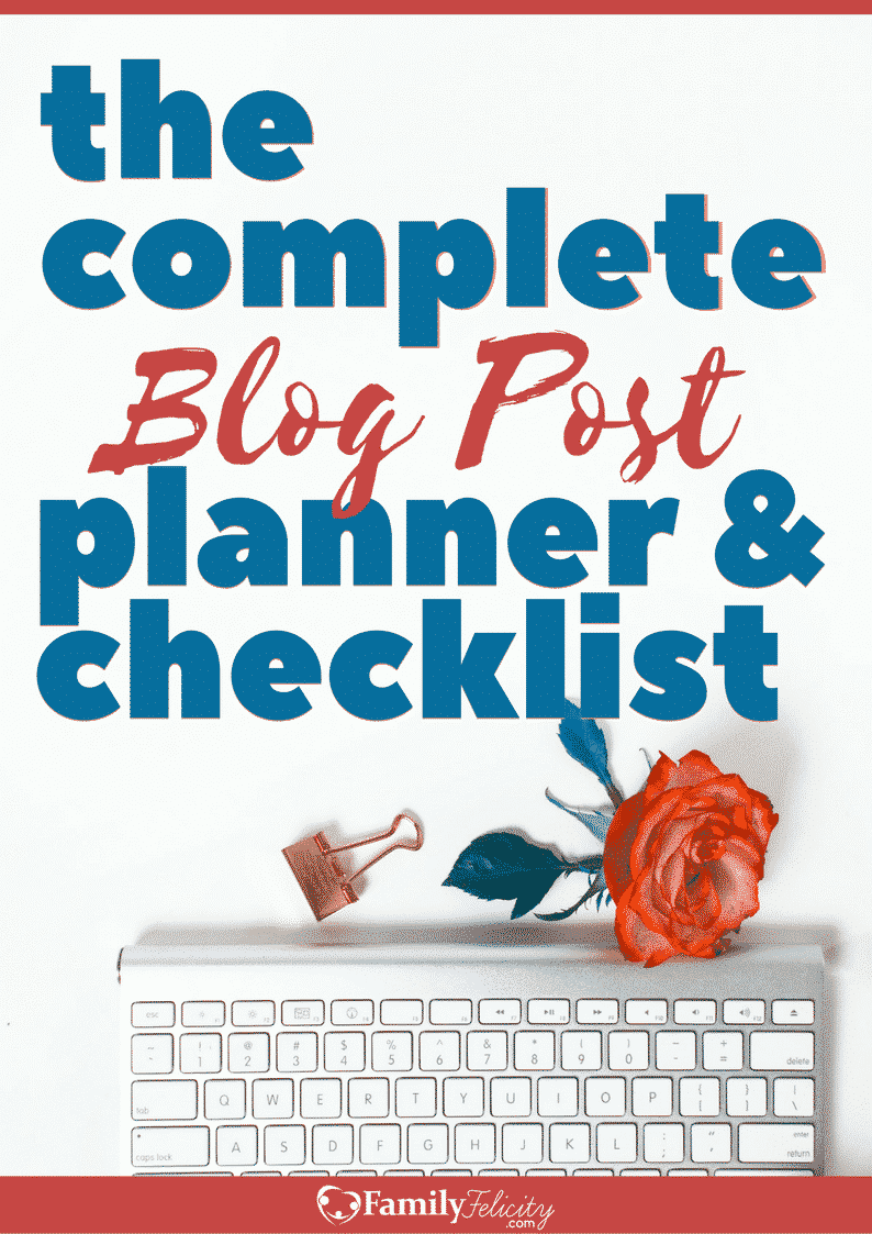 Complete Blog Post Planner & Checklist