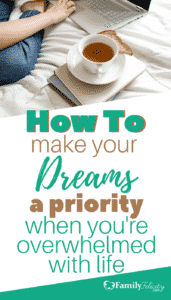 Do you have dreams and passions just waiting to get out of your heart? Get 5 simple steps to manifest those dreams even when your life is so crazy busy and full with motherhood, raising our family, and financial obligations. It's so simple to get started!