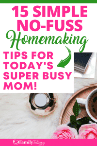 Desperate for simple tips, no-fuss tips to help you organize, clean, and run your home efficiently? This list will help you simplify your homemaking tasks and give you some much needed peace! #home #organize #organizing #clean #decor #momlife