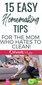 Hate cleaning and tired of feeling overwhelmed by the daily mess? Try these simple homemaking tips to restore your home and sanity!
