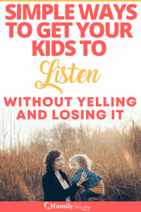There are things we often do as parents that create the perfect environment for our kids not to listen. Get the secret to getting your kids to listen without yelling. #kidsandparenting #parenting #kids #momlife #mom #momadvice