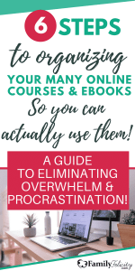organize your online course materials