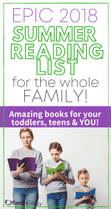 Summer is here and that means even more time for reading great books! Here is a reading list with amazing books for all children's ages!