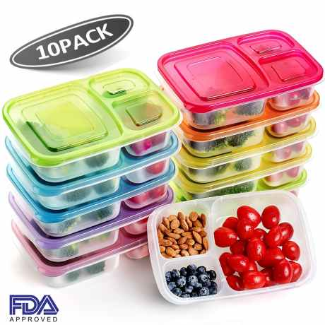 Plastic reusable lunch containers