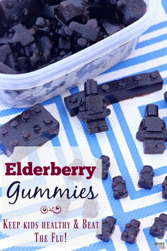elderberry gummies to prevent colds and flu