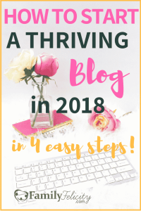 Ready to start your blog in 2018? It's so much easier than you think! Click to get the simple 4 step formula for blogging success... #blog #blogging #blogger #bloggersgetsocial