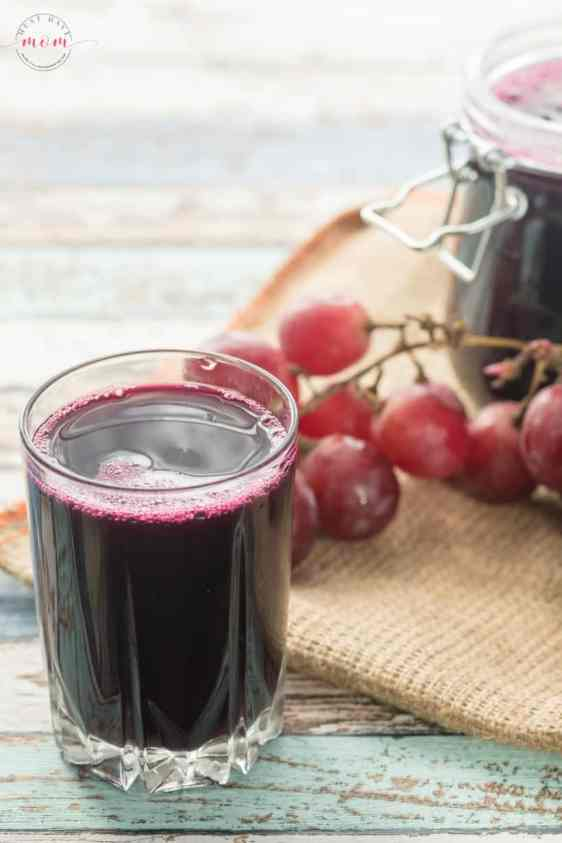 grape juice to get rid of stomach flu