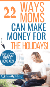 Looking to make money before the holidays? Moms can easily earn extra cash on the side with these super fun and easy work at home jobs! #sidehustle #workathome