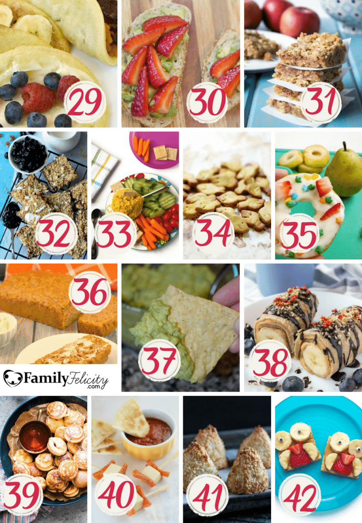 Your kids need healthy snacks after school and these snack recipes are fun, healthy, and easy to prepare.