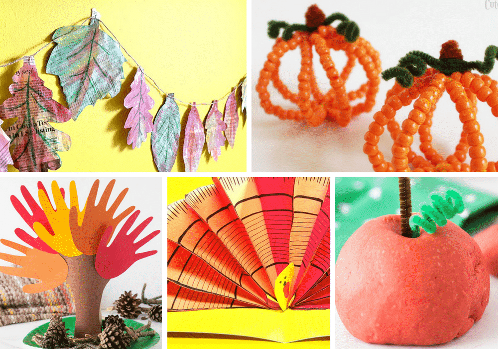 Fall inspired crafts for kids
