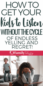 Getting your kids to listen without yelling is possible when you do these steps consistently. You'll feel like you have new kids! #kidsandparenting #parenting #parentingtips #positiveparenting