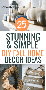 These Fall DIY home decor projects are super easy will make your home look effortlessly stunning! #diy #homedecor #fall #diyprojects #crafts