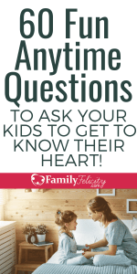 Tired of your kids clamming up? Try these questions to get your kids to open up and get to know your child's heart. #parenting #kidsandparenting #parentingtips #parenting101 #momlife