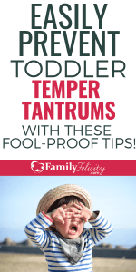 Instead of stopping temper tantrums, try preventing them all together with this simple and easy to do tips! #kidsandparenting #parenting #momlife #parenting101 #parentingtips