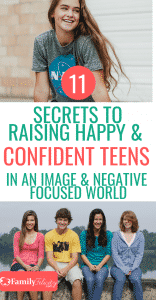 Having struggles with your teenager? Try these simple tips to help you raise a happy and confident teen in this largely negative and image focused world! It's possible! #kidsandparenting #teens #tweens #raisingkids #parenting #parentingtips