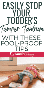 If you find yourself smack dab in the middle of a toddler temper tantrum and feel your own tantrum coming on... try these tips to stop that tantrum in it's tracks! #kidsandparenting #parenting #parentingtips #parenting101 #kids #momlife