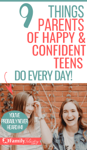 Raising teenagers and preteens can be really hard if you don't know the secrets to raising happy and confident teens! Get the list here... #teens #kidsandparenting #parentingtips #parenting101