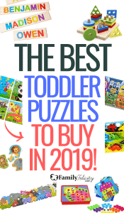 Looking for fun and educational learning puzzles for your growing toddler? These learning puzzles for toddlers will easily engage your 2-year-old, 3-year-old, or 4-year-old in educational fun! #toddlers #activities #parenting