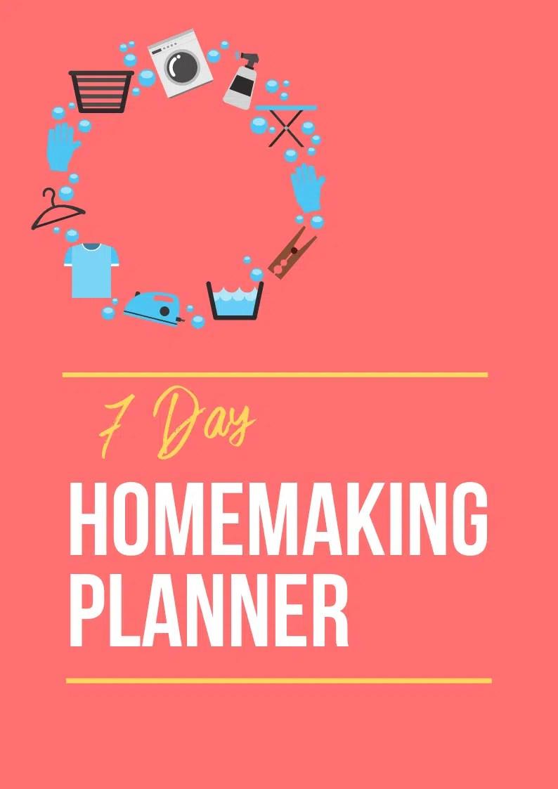 Cover homemaking planner