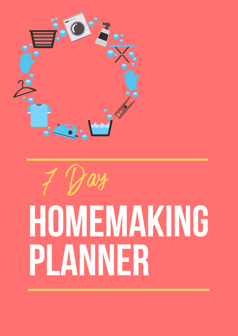Cover homemaking planner