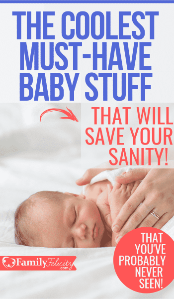 These must-have baby items will totally save your sanity as a new mom. No fluff baby stuff here! Only the coolest stuff I wish I had when my kids were babies! #babies #pregnancy