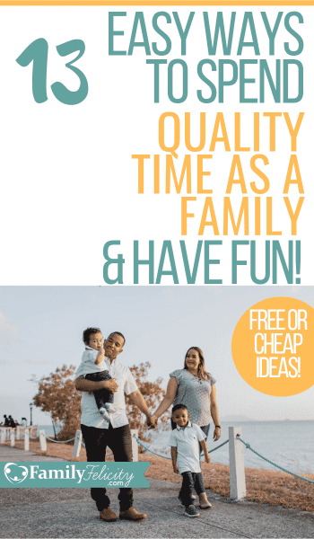 Strengthening your family has never been easier than with these simple ideas for spending time as a family. Your kids won't complain about these ideas! And the best part is they center around simple! #familytime #family #parenting #kidsandparenting #activities
