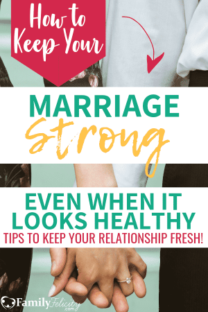 We know we need to work on our marriage when things get rocky, but what about when our marriage looks healthy? Learn the secret to keep your relationship strong and fresh! #marriage #relationshipgoals #marriageadvice