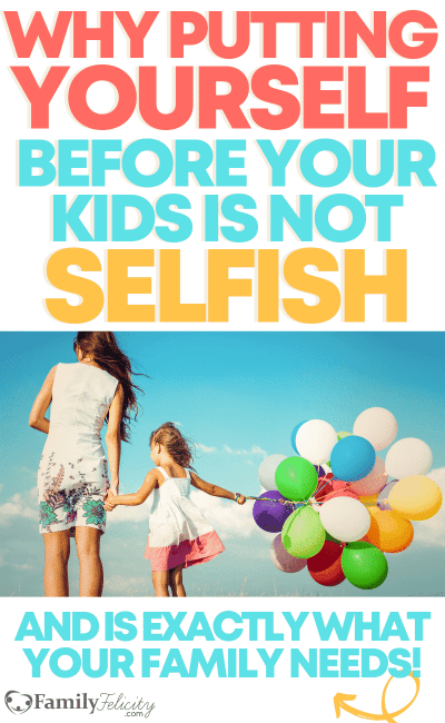 Feeling like you're running on empty these days? When we go too hard with our mom life and forget to take care of ourselves, we do our family a HUGE disservice... exactly what we didn't want in the first place! Learn the secret to practicing self-care with the right mindset to be the best mom our family really needs. #selfcare #momlife #motherhood #parenting