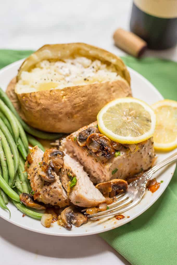 Garlic Butter Pork Chops With Lemon Family Food On The Table