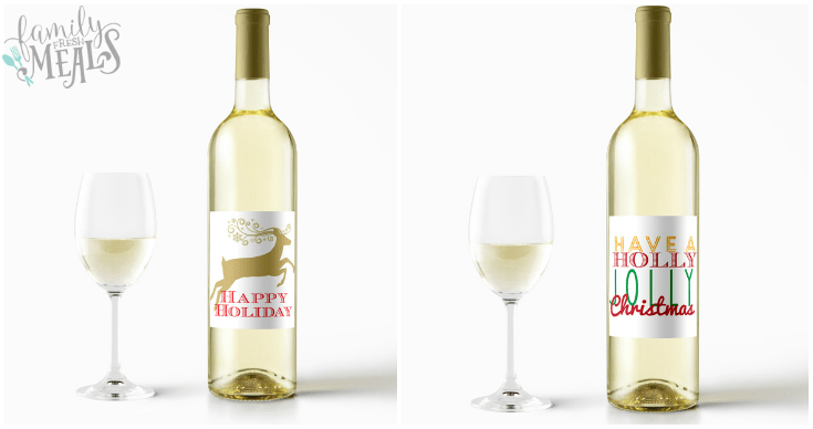 free printable holiday wine