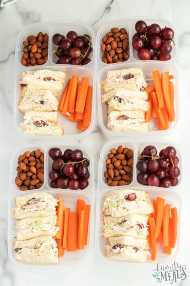 Healthy Chicken Salad lunchbox Idea - A great work or school lunch idea! Family Fresh Meals recipe