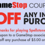 Gamestop 5 Off 5 In Store Purchase Coupon Family