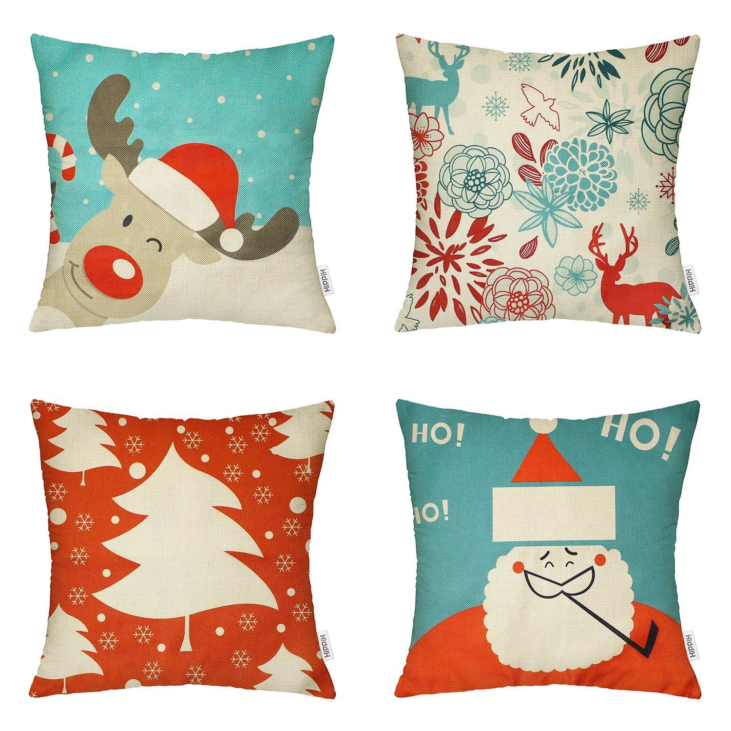 amazon xmas chair covers dining seat pad 18 x inch christmas decorative throw pillow on